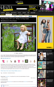 Saffron Bells: the only royal baby jewellery gift to be recommended by Grazia
