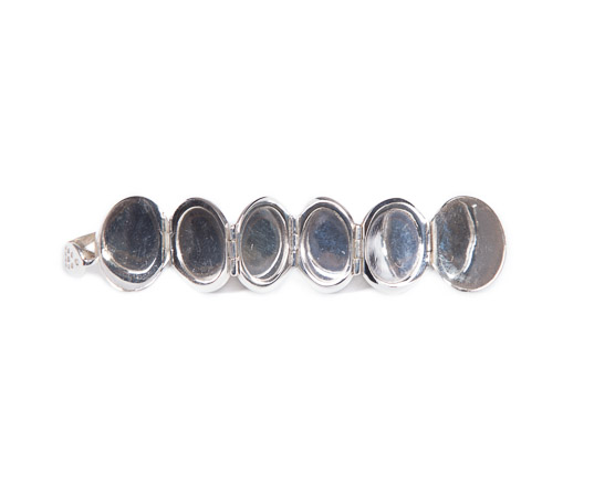 9c40e34fde2b Solid silver orb - with six hidden photo frame chambers. Click for larger  picture. Price  £120